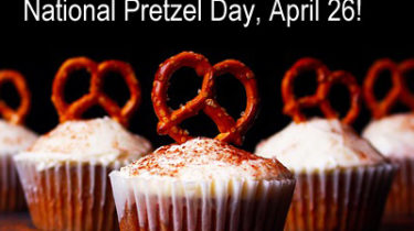 A Pretzel Cupcake Bake Sale Is a Unique Idea for National Pretzel Day!