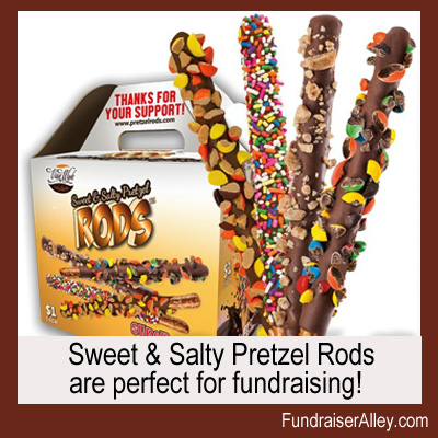 Sweet and Salty Pretze Rods are perfect for fundraising!