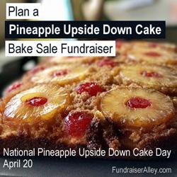 Pineapple Upside Down Cake Bake Sale Fundraiser