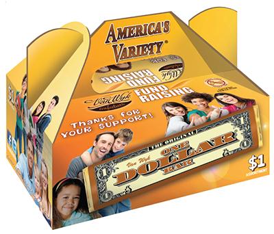 Americas Variety One Dollar Candy Bar Fundraiser