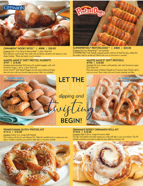 Auntie Anne's Fundraising Brochure