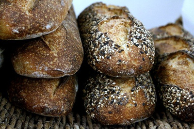 Sour Dough Rough Loaves, Plain and Seeded
