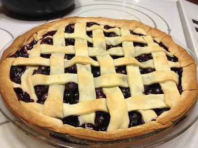 Blueberry Lattice Crust Pie