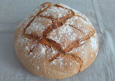 Traditional Round Boule Sourdough Bread