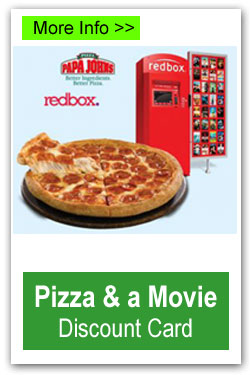 Pizza and a Movie Discount Card