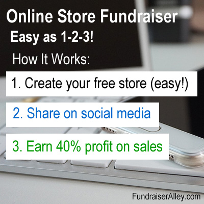 Online Store Fundraiser - Easy as 1-2-3!