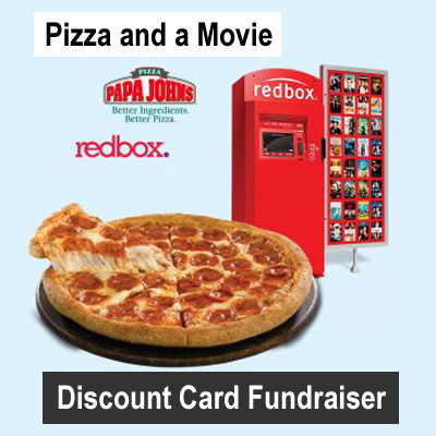 Pizza and a Movie Discount Card Fundraiser