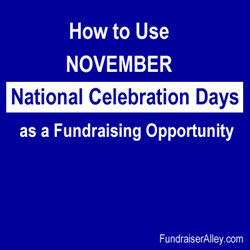 How to Use November National Celebration Days as a Fundraising Opportunity
