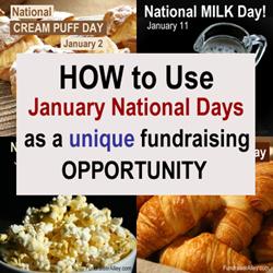 January National Days Fundraising Ideas