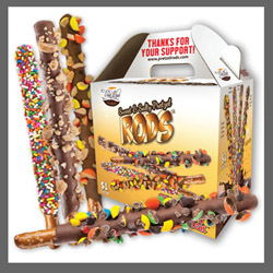 Chocolate Covered Pretzel Rods Fundraising Kit
