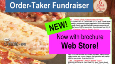 Pizza Snack Order-Taker Fundraiser with Web Store