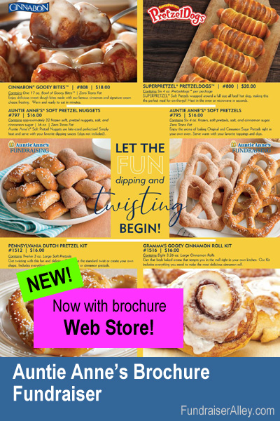 Auntie Anne's Fundraiser with Web Store