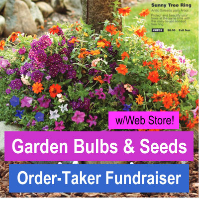Garden Bulbs and Seeds Order-Taker Fundraiser with Web Store