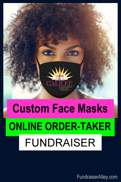Custom Face Masks Online Order-Taker Fundraiser