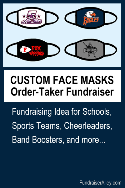 Custom Face Mask Order-Taker Fundraiser - Fundraising Idea for Schools, Sports Teams, Cheerleaders, Band Boosters