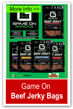 Game On Beef Jerky Bags Fundraiser
