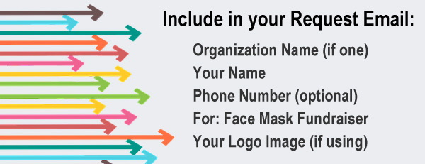 Include in Request Email to ftrutledge1950 at gmail.com: Organization Name, Your Name, Phone No., For Face Mask Fundraiser, and Your Logo Image