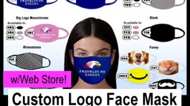 Custom Logo Face Masks Fundraiser - with Web Store
