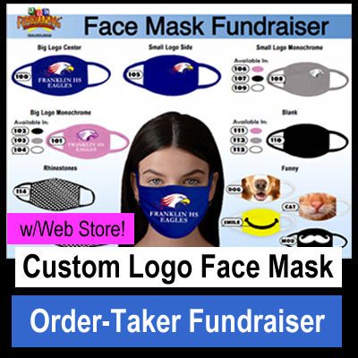 Custom Logo Face Masks Fundraiser - with Web Store