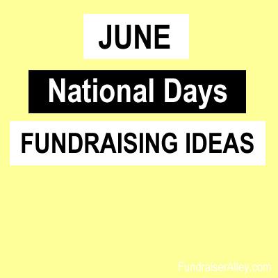 June National Days Fundraising Ideas