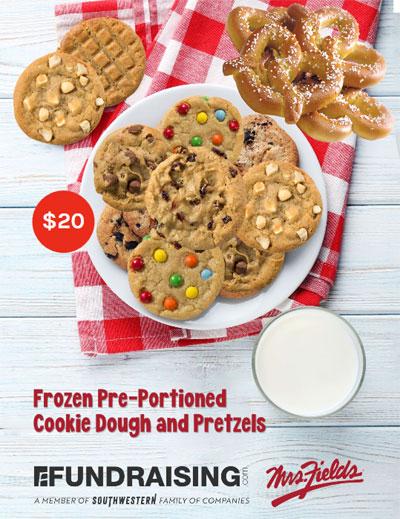 Mrs Fields Cookie Dough and Pretzels Fundraising Brochure