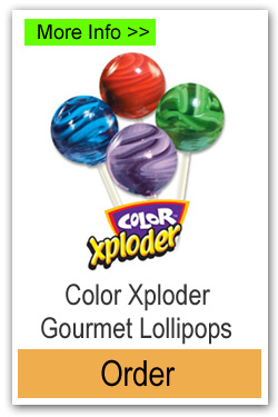 Color Exploder Lollipops - More Info/Order Online