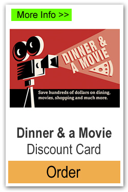 Dinner and Movie Discount Card