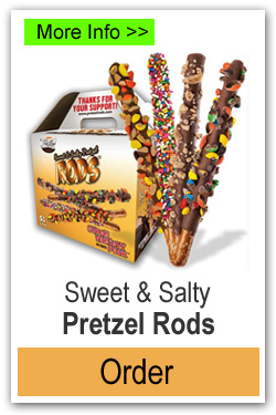Sweet Salty Pretzel Rods