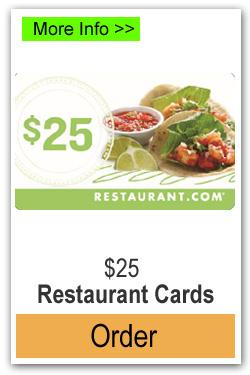 $25 Restaurant Cards