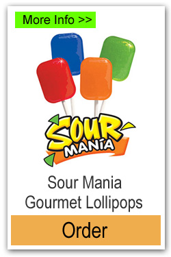 Sour Mania Lollipops - More Info/Order Online