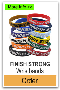 Finish Strong Wristbands for Fundraising