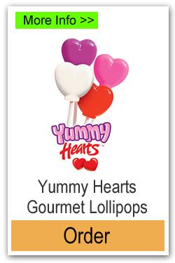 Valentine Hearts Lollipops - More Info/Order Online