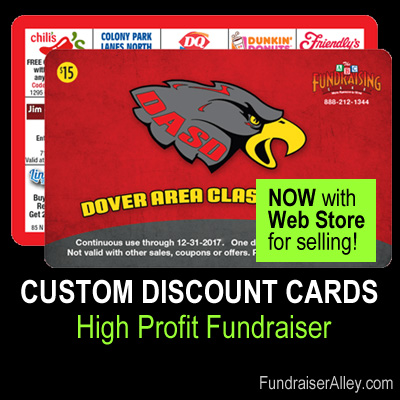 Custom Discount Card Fundraiser with Web Store