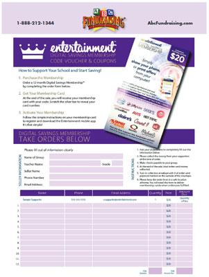 Entertainment Card Order-Taker Fundraiser
