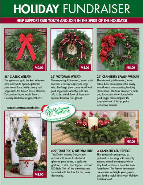 Holiday Fundraiser Order-Taker Brochure
