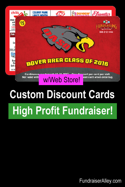 Custom Discount Cards Fundraiser with Web Store