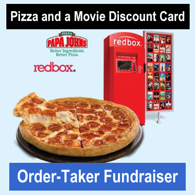 Pizza and Movie Card Order-Taker Fundraiser