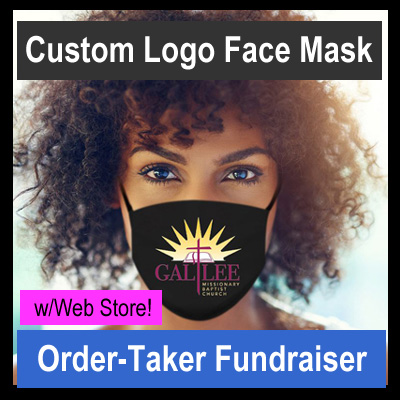Custom Logo Face Mask Order-Taker Fundraiser with Web Store