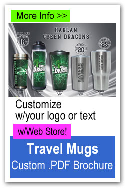 Custom Travel Mugs Fundraiser with Web Store