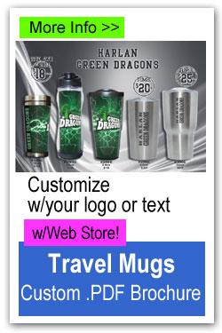 Custom Travel Mugs Fundraiser with Web Store