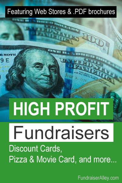 High Profit Fundraisers - Discount Cards, Pizza & Movie, and More...
