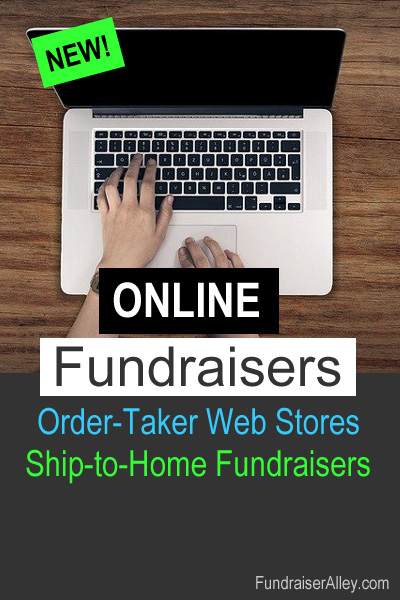 Online Fundraisers - Order-Taker Web Stores, Ship-to-Home Fundraisers