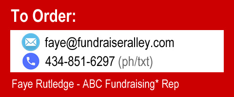 Info/Order: faye@fundraiseralley.com or 434-851-6297