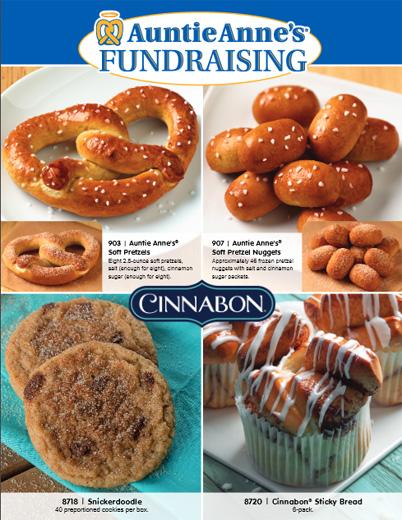 Auntie Annes Order-Taker Fundraiser Brochure