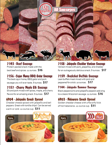 Cheese and Sausage Order-Taker Brochure - pg 3