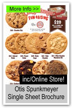 Otis Spunkmeyer Cookie Dough Single Sheet Fundraiser