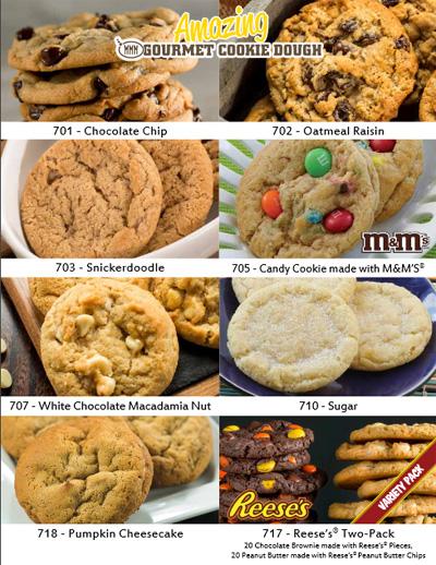 Amazing Cookie Dough Single Sheet Fundraiser