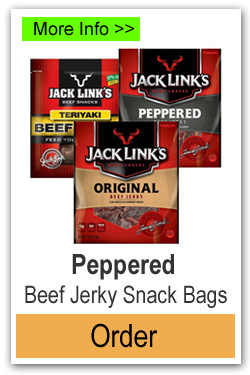 Peppered Beef Jerky Snack Bags