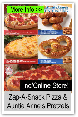 Zap-a-Snack Pizza and Auntie Annes Pretzels Fundraiser
