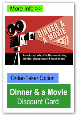 Dinner and a Movie Discount Cards
